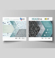 business templates for square brochure flyer vector image vector image