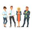 businessman characters man and woman vector image