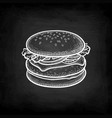 chalk sketch hamburger vector image