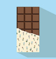 chocolate bar minimal flat design style vector image