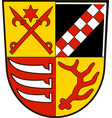 coat of arms of oder-spree in brandenburg germany vector image vector image