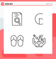 collection 4 icons in line style modern vector image vector image