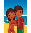 Couple on the beach vector image