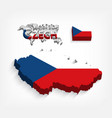 czech republic 3d flag and map vector image vector image