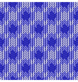 Design seamless colorful geometric knitted pattern vector image