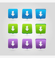 download icon upload button load symbol rounded vector image vector image