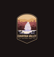 emblem patch cuhayoga valley national park vector image vector image