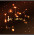 fire symbol of sagittarius zodiac sign horoscope vector image vector image