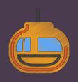 flat shading style icon cabin ski lift vector image vector image