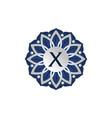 flower elegant icon initial x vector image vector image