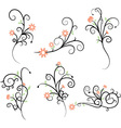 Flower Flourish Swirl elements vector image vector image