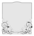 frame for a document with a vine of grapes below vector image vector image