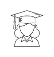 Graduation Student Icon vector image vector image
