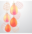 greeting card with eggs vector image vector image