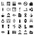 hair style icons set simple style vector image vector image