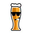 happy beer cartoon character vector image