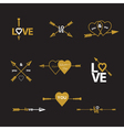 Happy valentines day arrow vector image