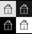 house temperature icon isolated on black white vector image vector image
