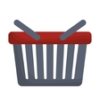isolated shopping basket vector image
