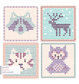 knitted animals vector image