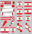 Lebanon flags vector image