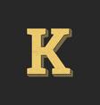 logo letter k gold vintage vector image vector image