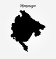 map of montenegro vector image