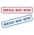 Mega Big Win Rubber Stamps vector image vector image
