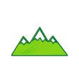 mountain sign lemon scribble vector image vector image