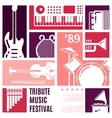 Music festival abstract background vector image