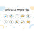 outbound marketingtrendy infographic template vector image vector image