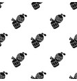 paintball hand grenade icon in black style vector image