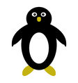penguin on white background vector image