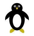 penguin on white background vector image