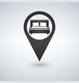 Pinpoint hotel accommodation map point isolated