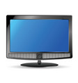 plasma tv and speakers vector image vector image