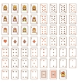 playing cards set vector image