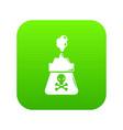 poison icon green vector image