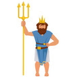 poseidon or neptune greek or roman ancient god of vector image