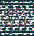 seamless pattern with french bulldog and spinners vector image vector image