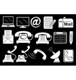 Set of communication tools vector image vector image