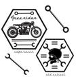 set vintage motorcycle labels vector image vector image