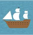 ship boat sea frigate symbol vessel travel vector image vector image