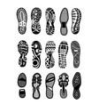 shoe sole icon set isolated on white background vector image