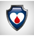 sign donation blood heart donor icon vector image