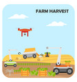 smart farming harvest agricultural automation and vector image