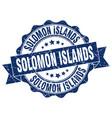 solomon islands round ribbon seal vector image vector image