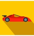Speeding race car flat icon vector image vector image