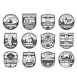 sport adventure travel equipment isolated icons vector image vector image