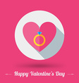 St Valentines Day card design in flat des vector image
